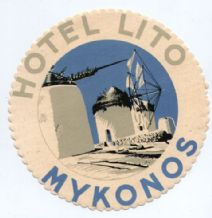 Hotel label Greek luggage labels Greece  beautiful #272